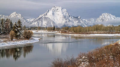 Mt Moran And Oxbow Bend Poster by Pierre Leclerc Photography