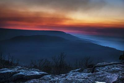 Mt Nebo Arkansas St Sunset Poster by Tim Hayes
