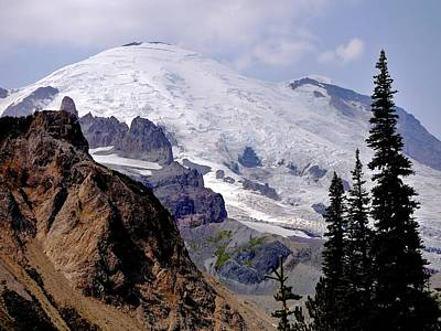 Mt Rainier From Panhandle Gap Poster by Scott Nelson
