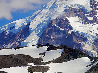 Mt Rainier From Spray Park Poster