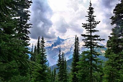 Poster featuring the photograph Mt Rainier by Lynn Hopwood