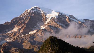 Mt Rainier Sunset Poster