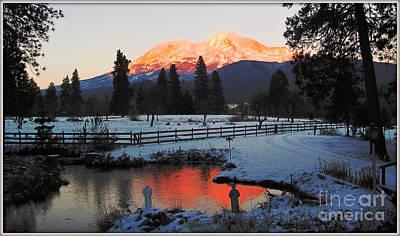 Mt. Shasta-2 Poster by Irina Hays
