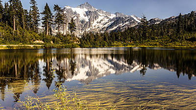 Mt Shuksan Reflection Poster
