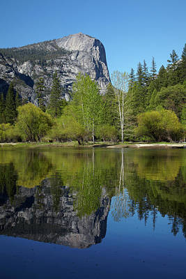 Mt Watkins Reflected In Mirror Lake Poster by David Wall