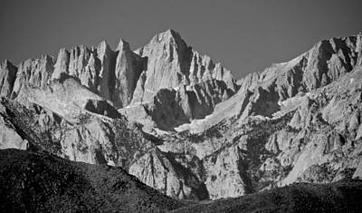 Mt. Whitney In Black And White Poster by Eric Tressler
