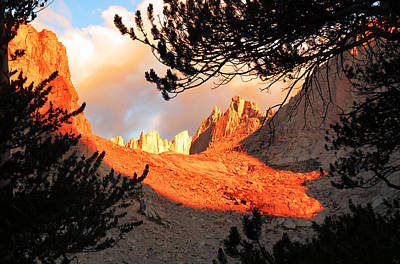 Poster featuring the photograph Mt. Whitney Sunrise by Alan Socolik