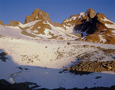 2m6452-mt. Winchell Mt. Agassiz Poster by Ed  Cooper Photography