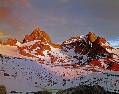 406422-mt. Winchell Mt. Agassiz Sunset Poster by Ed  Cooper Photography