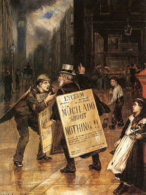 Much Ado About Nothing Poster by Augustus Edwin Mulready