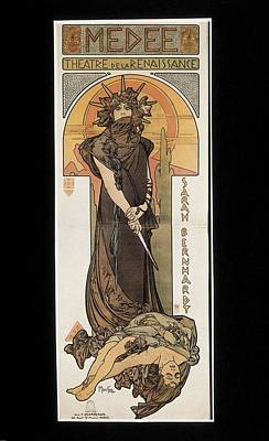 Mucha, Alphonse Maria 1860-1939. Sarah Poster by Everett