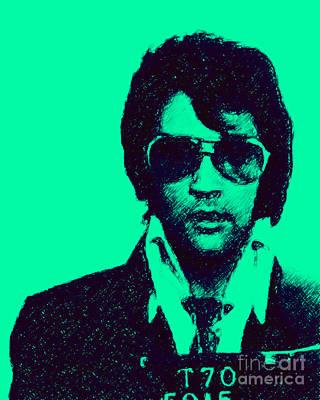 Mugshot Elvis Presley P128 Poster