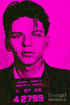 Mugshot Frank Sinatra V1m80 Poster by Wingsdomain Art and Photography