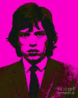 Mugshot Mick Jagger M80 Poster by Wingsdomain Art and Photography
