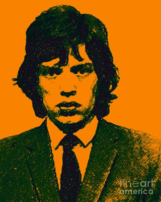 Mugshot Mick Jagger P0 Poster