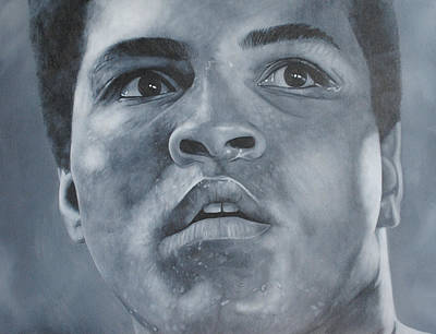 Poster featuring the painting Muhammad Ali by David Dunne