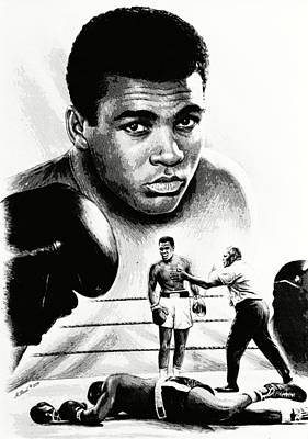 Muhammad Ali The Greatest Poster by Andrew Read