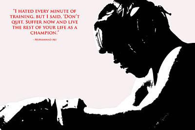 Muhammad Ali Training Quote  2 Poster