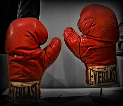Muhammad Ali's Boxing Gloves Poster