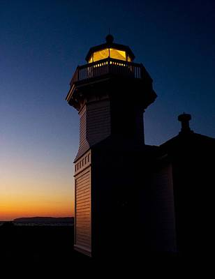 Poster featuring the photograph Mukilteo Light House Sunset by Sonya Lang