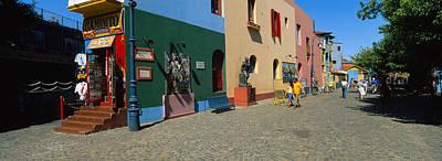Multi-colored Buildings In A City, La Poster