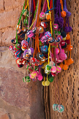Multi-colored Hangings On Wall, Tulmas Poster