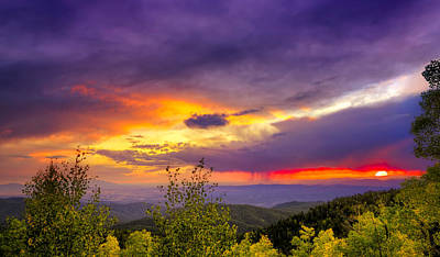 Multicolored Sunset Poster by Dean Fikar