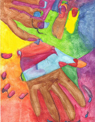 Multicultural Hands Poster by Meah Tweh