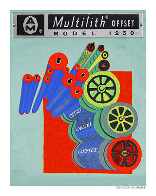 Multilith 1250 Ink Rollers Cylinders Poster by Jack Pumphrey