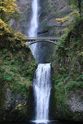 Poster featuring the photograph Multnomah Falls by Athena Mckinzie