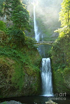 Multnomah Falls Poster by Christiane Schulze Art And Photography