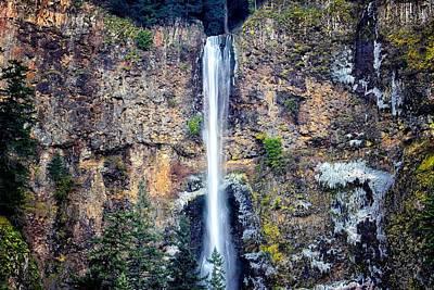 Multnomah Falls East Of Portland Or Poster