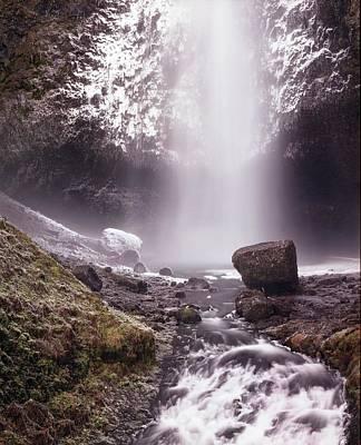 Multnomah Falls In Ice Poster