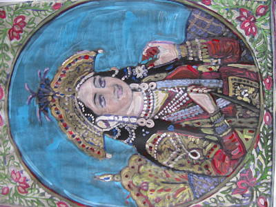 Poster featuring the painting Mumtaz by Vikram Singh