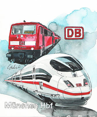 Munchen Central Station Poster
