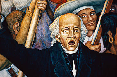 Mural Depicting Miguel Hidalgo, Mexico Poster