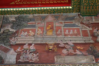 Mural - Wat Pho - Bangkok Thailand - 01133 Poster
