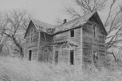 Abandoned House Poster by Chris Harris