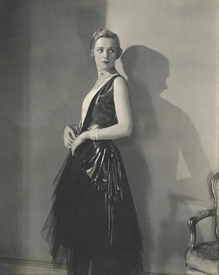 Muriel Finley Wearing A Dress By Frances Clyne Poster