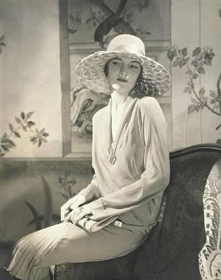 Muriel Finley Wearing A Dress By Lanvin Poster