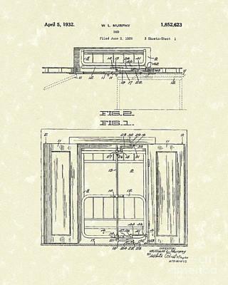 Murphy Bed 1932 Patent Art Poster