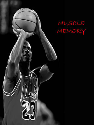 Poster featuring the painting Muscle Memory by Brian Reaves