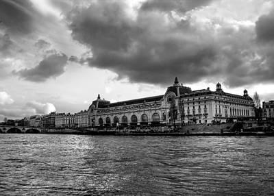 Musee De Orsay Paris Black And White Poster by Radoslav Nedelchev