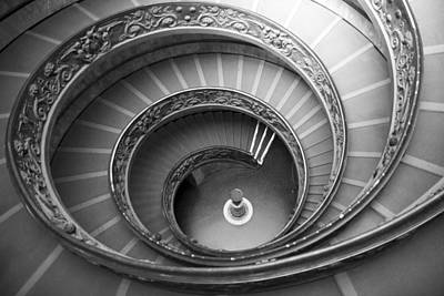 Poster featuring the photograph Musei Vaticani Stairs by Nathan Rupert