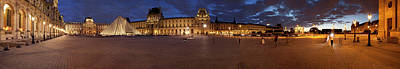 Museum At Dusk, Musee Du Louvre, Paris Poster by Panoramic Images