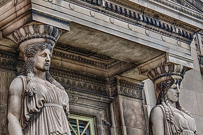 Museum Caryatids Poster by Mike Burgquist