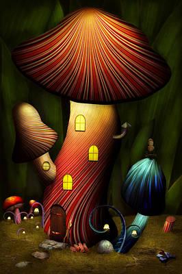 Mushroom - Magic Mushroom Poster by Mike Savad