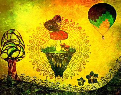 Mushroom Moth Poster by Ally  White