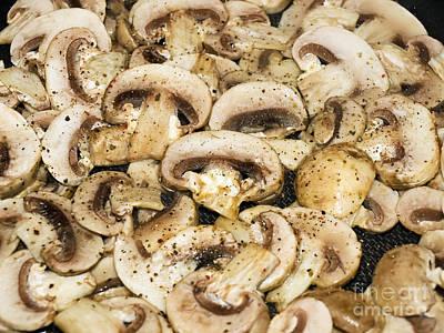 Mushrooms Slices Poster