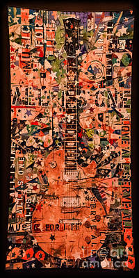 Music For Life All Is One Guitar   Poster by Gary Keesler